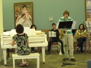 All-State champ, Brandon, performs for Crown Center residents