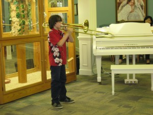 Ray, a fifth grader, delights the residents