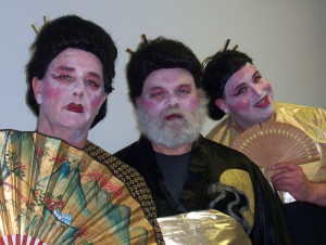 Hey, Steve, it's your wife who said we have to dress like Japanese women for this comic opera, The Mikado?